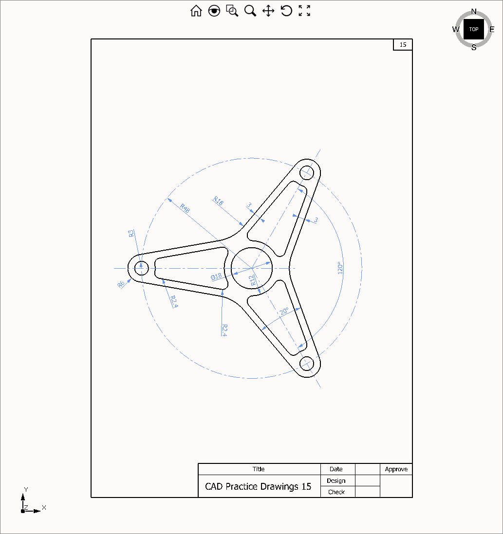 CAD Practice Drawings 15  Help Center